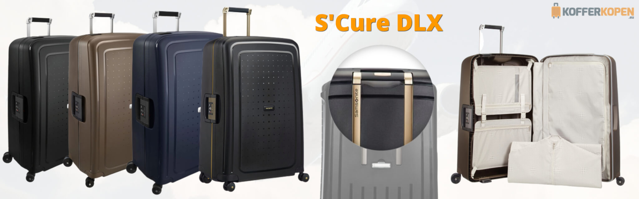 Samsonite S'Cure DLX Spinner koffers